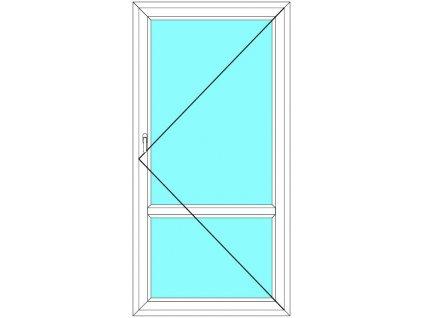 Balkónové dveře 80x220 Jednokřídlé Otevírací dělené Aluplast Ideal 4000