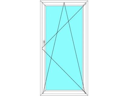 Balkónové dveře 100x200 Jednokřídlé Otevírací a Sklopné Aluplast Ideal 4000