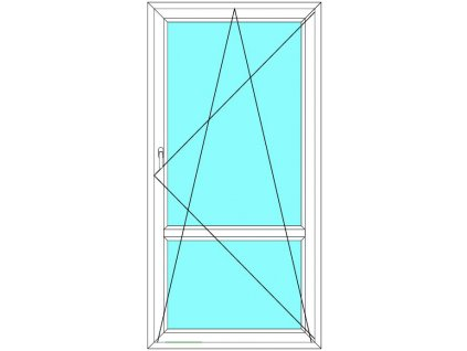 Balkónové dveře 80x240 Jednokřídlé Otevírací a Sklopné dělené Aluplast Ideal 4000