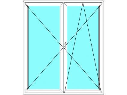 Balkónové dveře 130x210 Dvoukřídlé Aluplast Ideal 4000