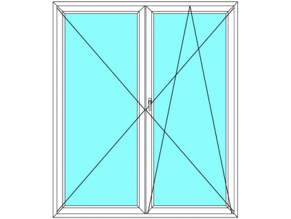 Balkónové dveře 150x200 Dvoukřídlé Aluplast Ideal 4000