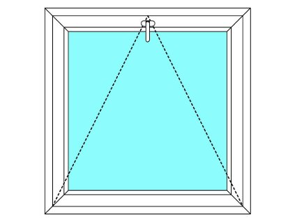 Plastové okno 100x40 Jednodílné Sklopné Větrací Aluplast Ideal 4000