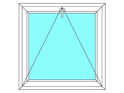Plastové okno 150x50 Jednodílné Sklopné Větrací Aluplast Ideal 4000