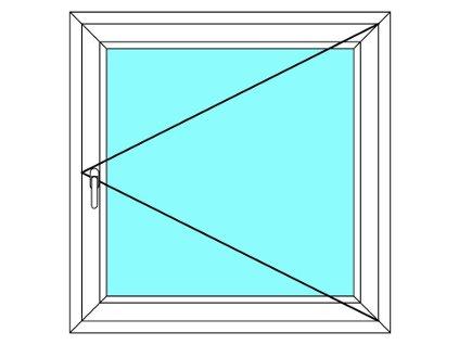 Plastové okno 80x170 Jednodílné Otevírací Aluplast Ideal 4000