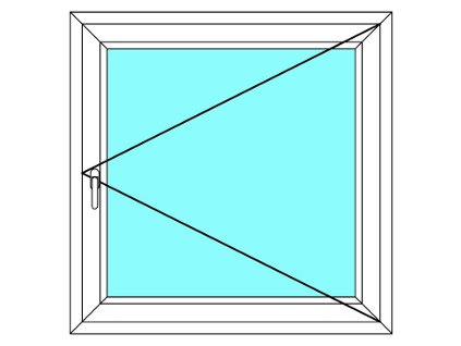 Plastové okno 140x140 Jednodílné Otevírací Aluplast Ideal 4000