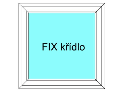 Plastové okno 190x200 Jednodílné Neotevíratelné křídlo FIX Aluplast   Ideal 4000