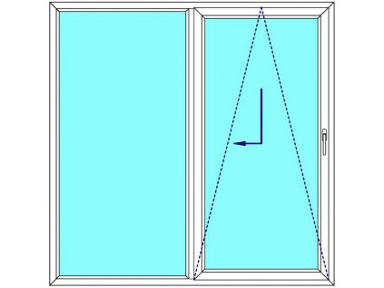 Sklopně posuvné dveře 160x210 PATIO (PSK) Fix v rámu Aluplast Ideal 4000