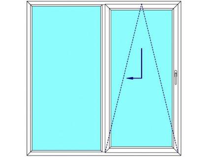 Sklopně posuvné dveře 180x200 PATIO (PSK) Fix v rámu Aluplast Ideal 4000