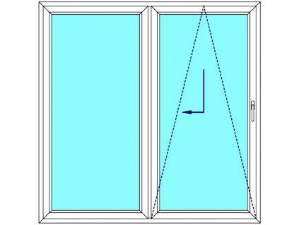 Sklopně posuvné dveře 180x200 PATIO (PSK) Fix Křídlo Aluplast Ideal 4000