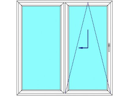 Sklopně posuvné dveře 210x200 PATIO (PSK) Fix Křídlo Aluplast Ideal 4000