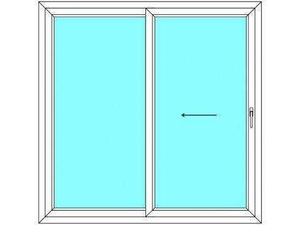 Posuvné dveře 190x180 Multi-SLIDE (ST) Aluplast Ideal 4000