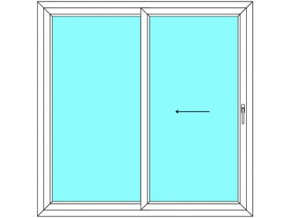 Posuvné dveře 200x200 Multi-SLIDE (ST) Aluplast Ideal 4000