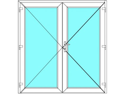 Vchodové dveře 190x180 Dvoukřídlé Aluplast Ideal 4000