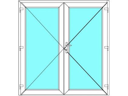 Vchodové dveře 210x200 Dvoukřídlé Aluplast Ideal 4000