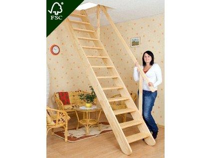 Mlynářské schody rovné - šířka 60 cm