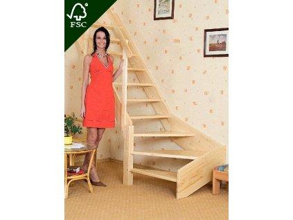 Mlynářské schody zatočené - pravé
