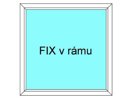 Plastové okno 210x50 Jednodílné Fix v Rámu Ekosun 6