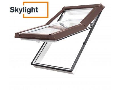 Plastové střešní okno 78x118 Borovice Skylight Thermostyle