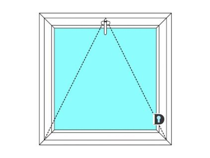 Plastové okno 150x50 cm Jednokřídlé Sklopné větrací Ekosun 6