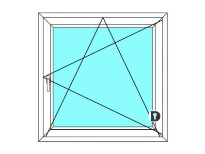 Plastové okno 90x100 cm Jednokřídlé Otevírací a sklopné Ekosun 6