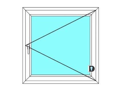Plastové okno 80x70 cm Jednokřídlé Otevírací Ekosun 6