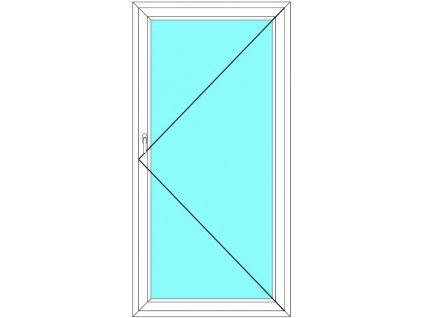 Balkónové dveře 70x200 Jednokřídlé Otevírací Ekosun 6