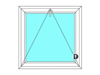 Plastové okno 50x90 cm Jednokřídlé Sklopné větrací Ekosun 6 Barva Bílá-tmavý dub