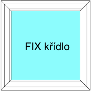 Plastové okno 120x120 Jednodílné Neotevíratelné křídlo FIX Aluplast Ideal 4000 - Maco Multi-Trend BARVA PROFILU: Bílá - Bílá