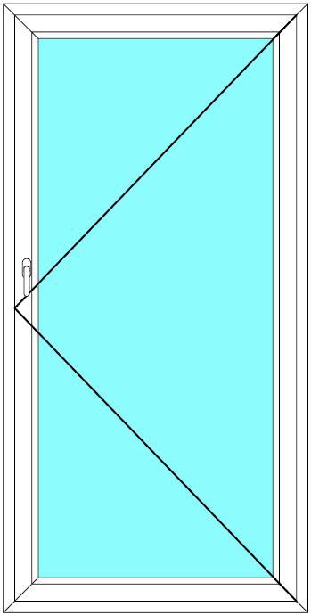Balkónové dveře 60x200 Jednokřídlé Otevírací Aluplast Ideal 4000 - Maco Multi-Trend BARVA PROFILU: Bílá - Bílá