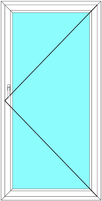 Balkónové dveře 90x220 Jednokřídlé Otevírací Aluplast Ideal 4000 - Maco Multi-Trend BARVA PROFILU: Bílá - Bílá
