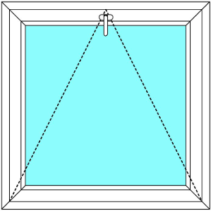 Plastové okno 90x120 Jednodílné Sklopné Větrací Aluplast Ideal 4000 - Maco Multi-Trend BARVA PROFILU: Bílá - Bílá