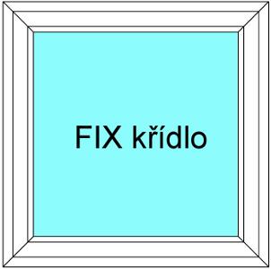 Plastové okno 60x120 Jednodílné Neotevíratelné křídlo FIX Aluplast Ideal 4000 - Maco Multi-Trend BARVA PROFILU: Bílá - Bílá