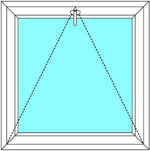 Plastové okno 120x120 Jednodílné Sklopné Větrací Aluplast Ideal 4000 - Maco Multi-Trend BARVA PROFILU: Bílá - Bílá