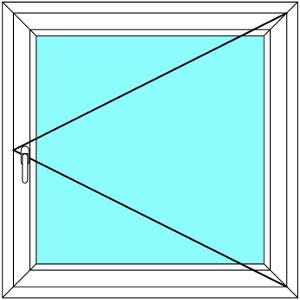 Plastové okno 120x120 Jednodílné Otevírací Aluplast Ideal 4000 - Maco Multi-Trend BARVA PROFILU: Bílá - Bílá