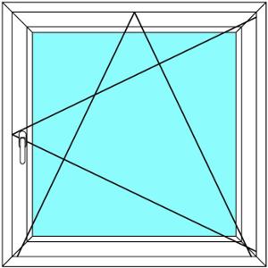 Plastové okno 50x60 Otevírací a Sklopné Aluplast Ideal 4000 - Maco Multi-Trend BARVA PROFILU: Bílá - Bílá