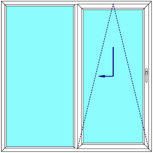 Sklopně posuvné dveře 180x210 PATIO (PSK) Fix v rámu Aluplast Ideal 4000 BARVA PROFILU: Bílá - Bílá