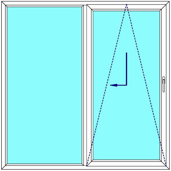 Sklopně posuvné dveře 190x190 PATIO (PSK) Fix v rámu Aluplast Ideal 4000 BARVA PROFILU: Bílá - Bílá