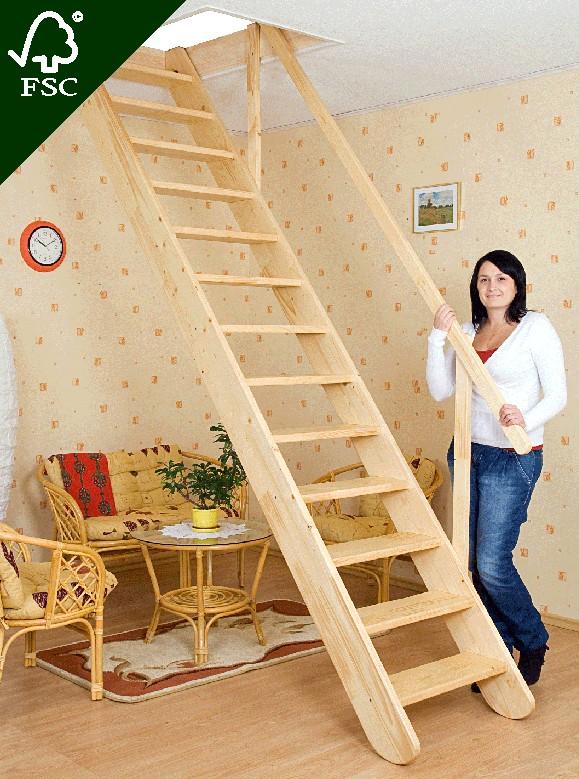 Mlynářské schody rovné - šířka 60 cm Výška schodu: 80 cm.