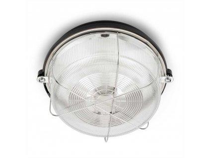 100499 Kulatá lampa se skleněnou krytkou bakelit