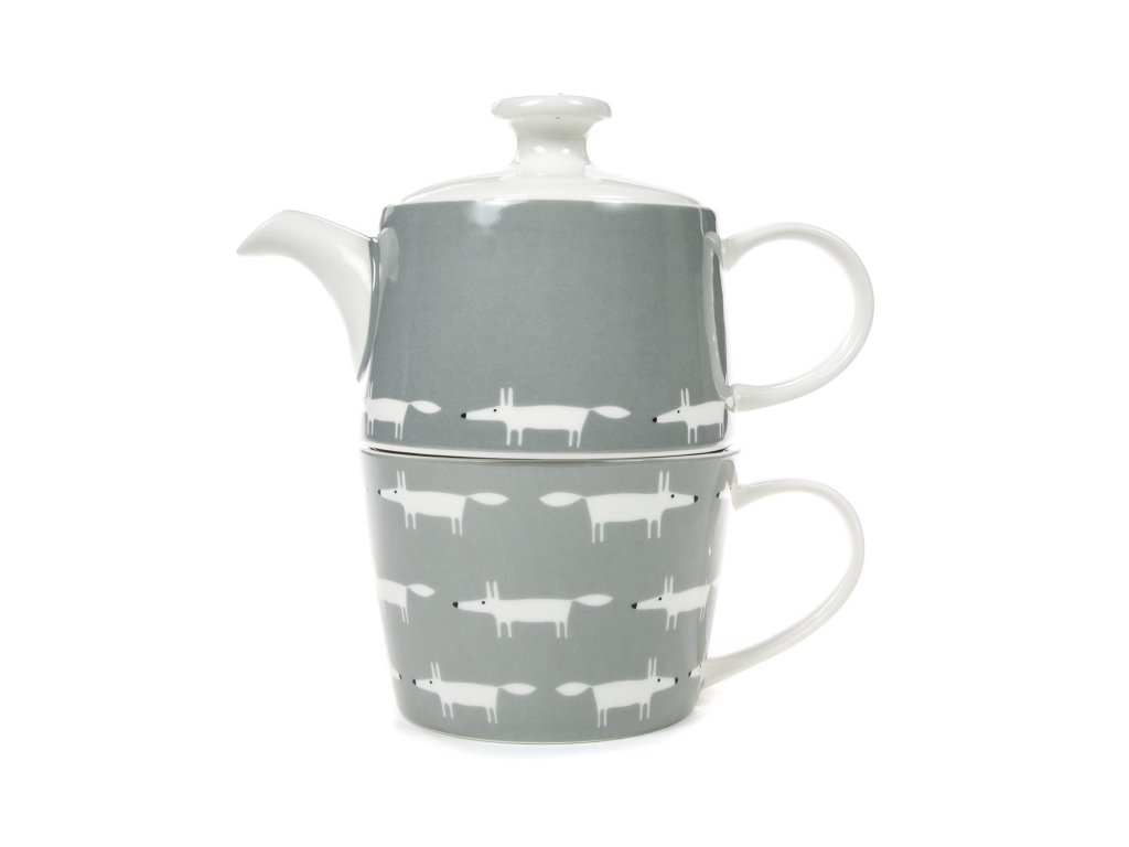 SC 0264 grey tea for two teapot mug