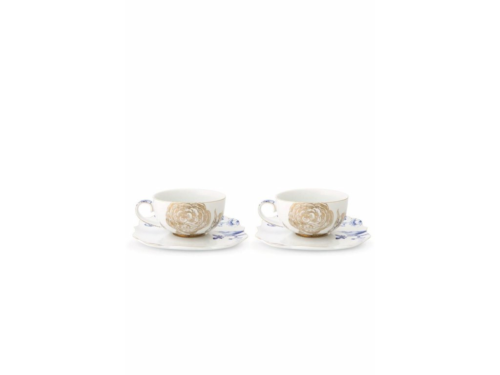 0021221 set 2 tea cups saucers royal white 800