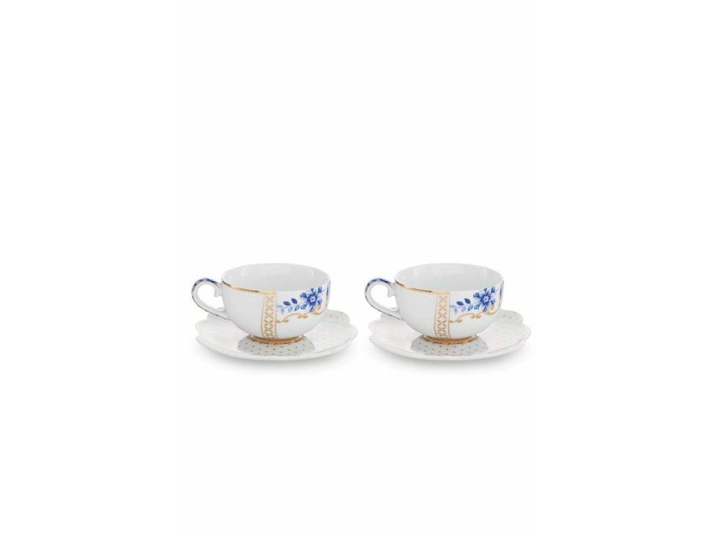 0021220 set 2 espresso cups saucers royal white 800