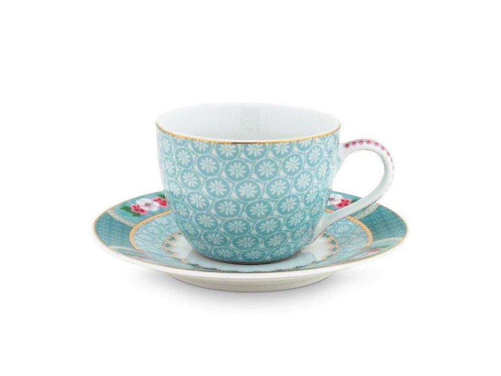Šálka na espresso s tanierikom Blushing Birds 120 ml blue