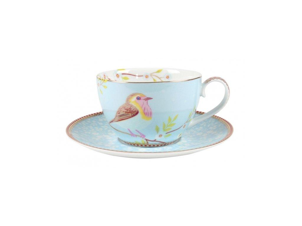 Šálka s tanierikom Early Bird 280 ml Blue
