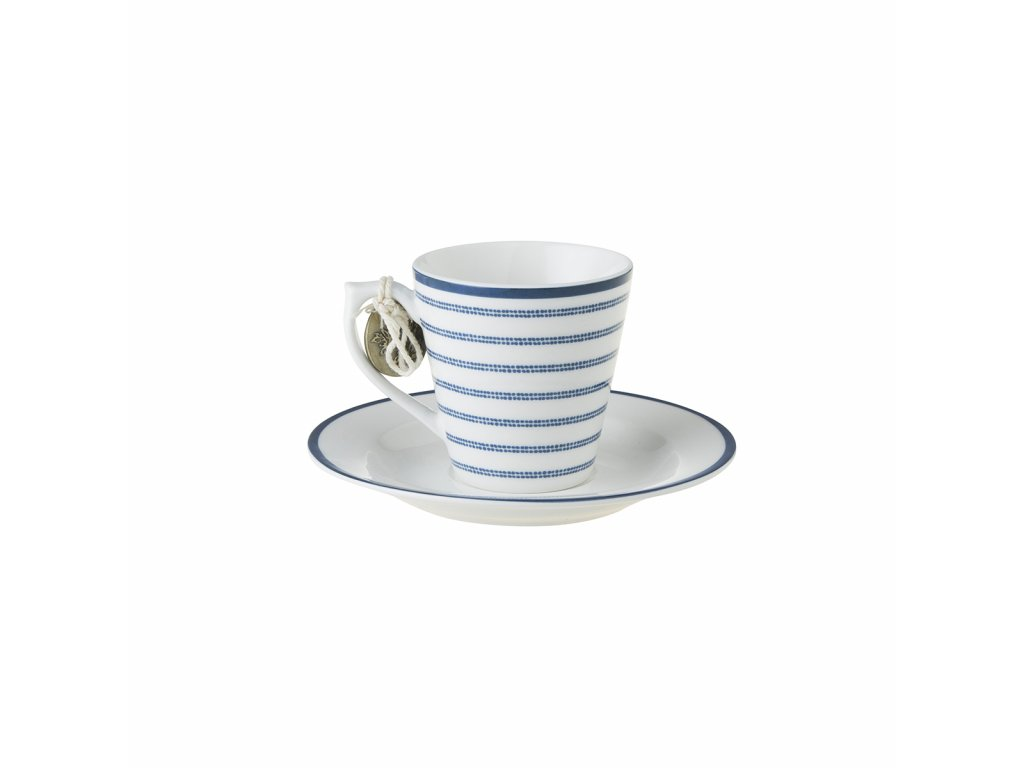pruhovaná espresso šálka