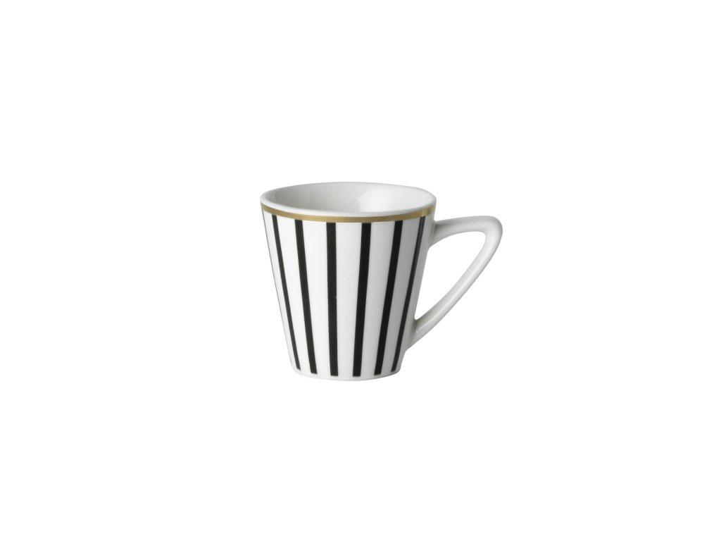 Šálka espresso s tanierikom 90 ml Pruhy