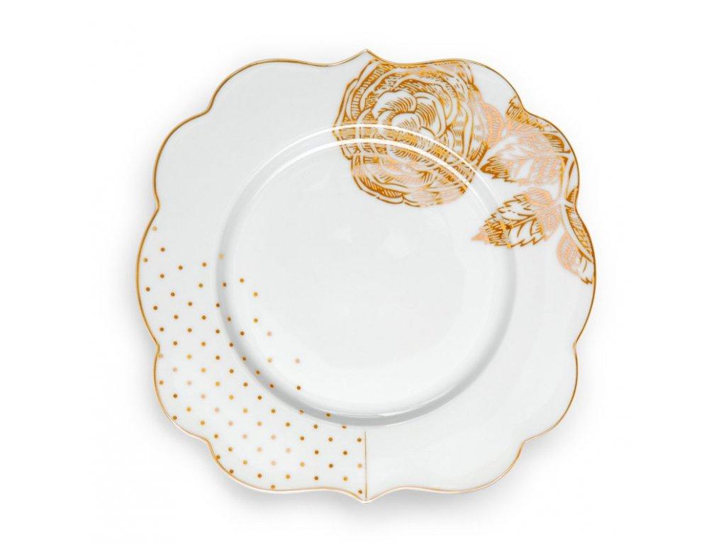 dezertný tanier pip royal white