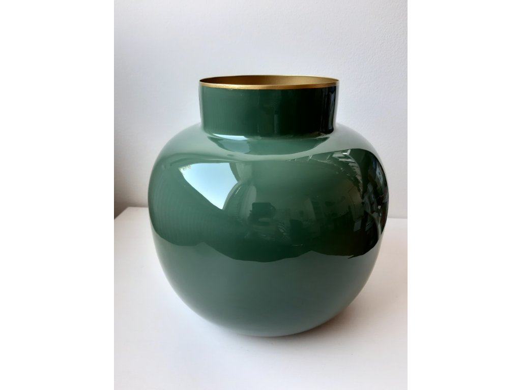 Váza zelená 25 cm