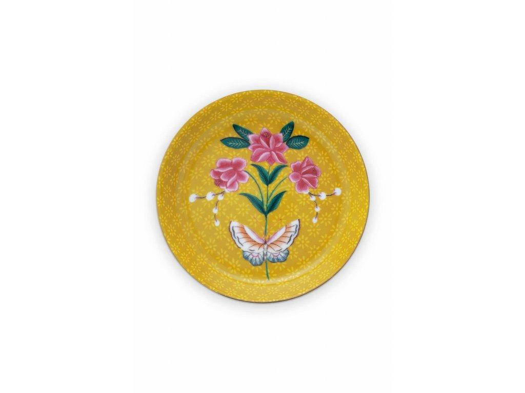 Odkladací tanierik žltý
