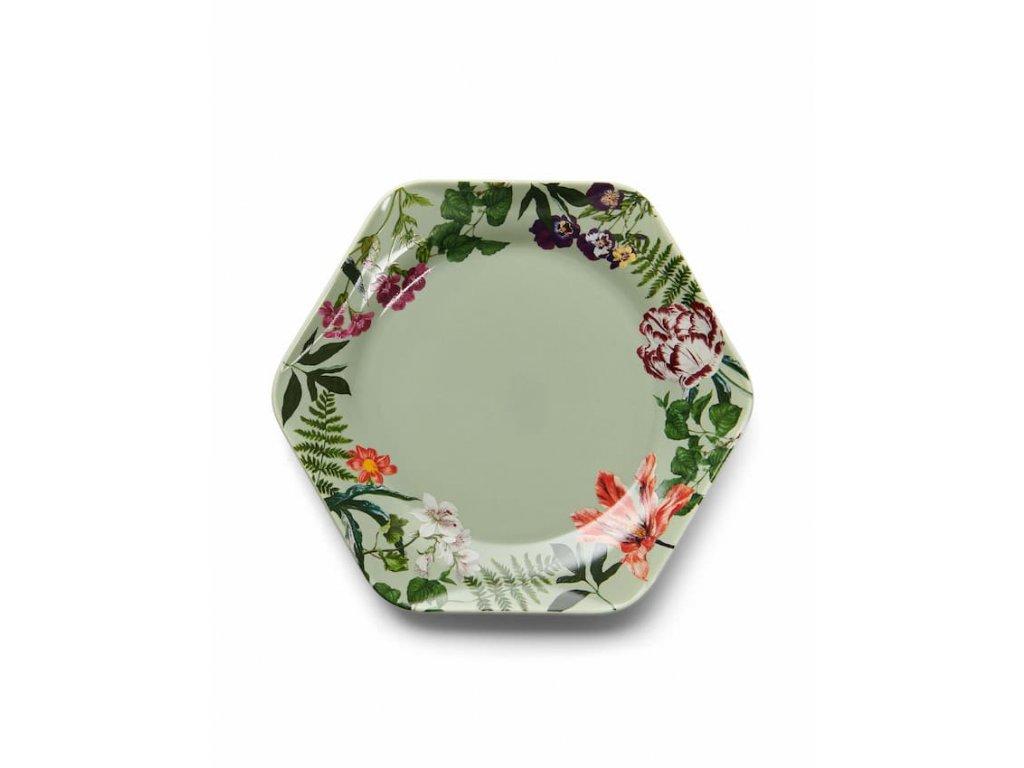 Dezertný tanier svetlo zelená 17 cm